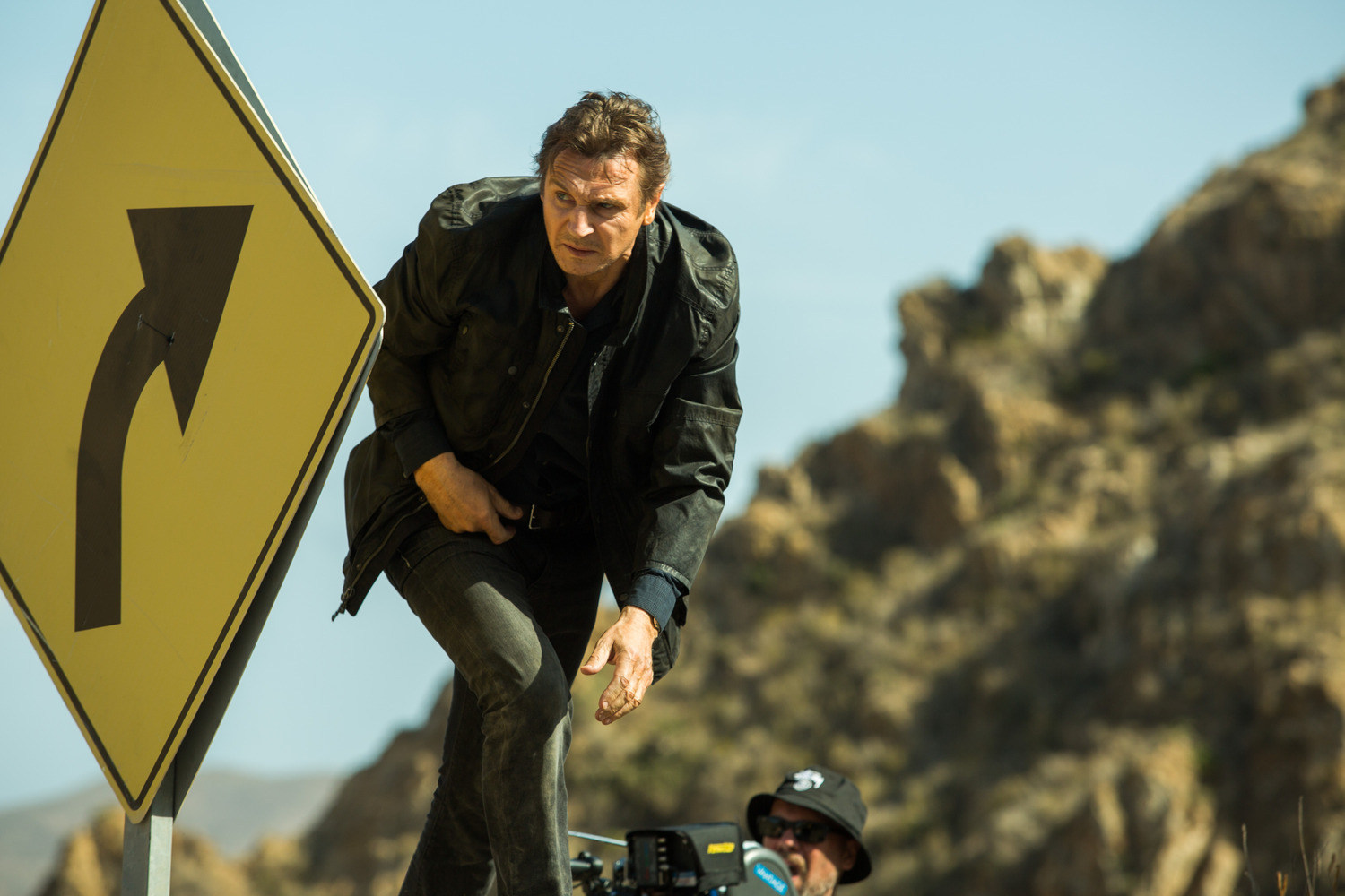 Liam Neeson in Taken 3 (2014) Behind the Scenes