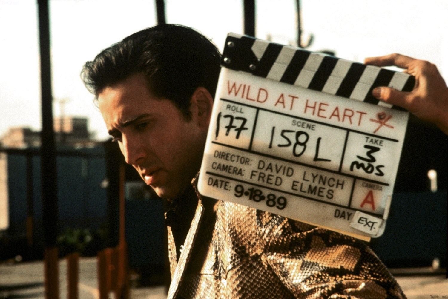Nicolas Cage in Wild at Heart (1990) Behind the Scenes