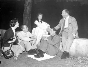 Ava Visits the Set of An American in Paris (1951) - Behind the Scenes photos