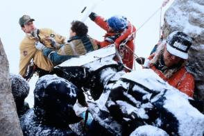 Filming Cliffhanger (1993) - Behind the Scenes photos
