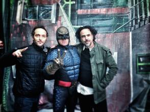 Lubezki, Keaton and Iñárritu on the Set