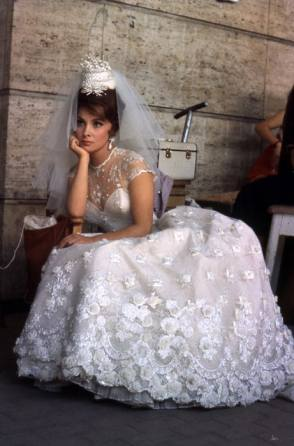 Gina as a Bride - Behind the Scenes photos