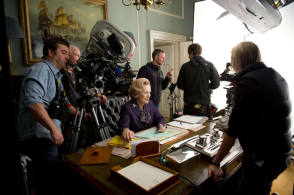 Filming The Iron Lady (2011) - Behind the Scenes photos