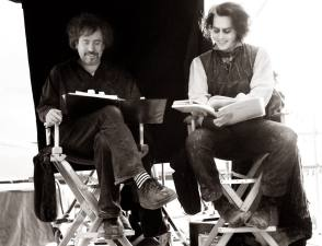Reading Scripts on the Set - Behind the Scenes photos