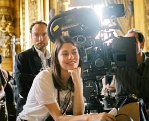 Director Sofia Coppola on the Set