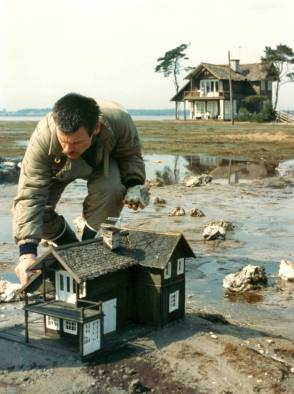 A Miniature Film Set : The Sacrifice (1986) - Behind the Scenes photos