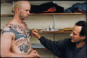 Making a Tattoo on the Set