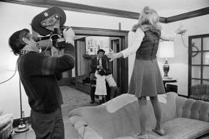 Filming A Woman Under the Influence (1974) - Behind the Scenes photos