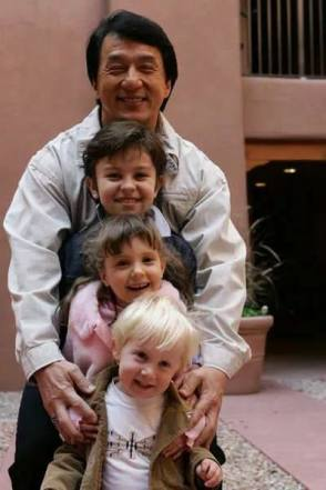 Jackie Chan with Child Actors on the Set - Behind the Scenes photos