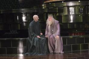 Lord Voldemort with Albus Dumbledore - Behind the Scenes photos