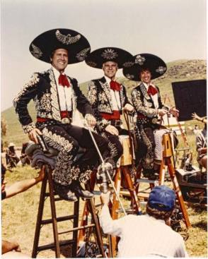 On Set of Three Amigos (1986) - Behind the Scenes photos