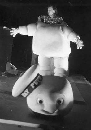 Stay Puft Marshmallow Man in Ghostbusters (1984) - Behind the Scenes photos