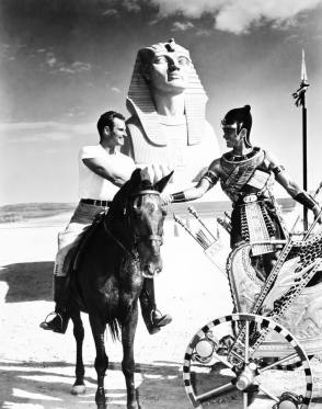 On Set of Ten Commandments (1956) - Behind the Scenes photos