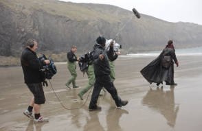 Filming a Scene in Hollow Crown (2012)