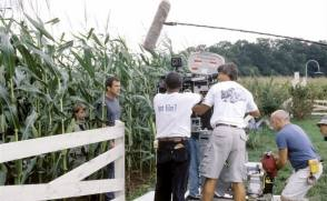 Filming Signs (2002) - Behind the Scenes photos