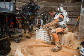 On Set of The Martian