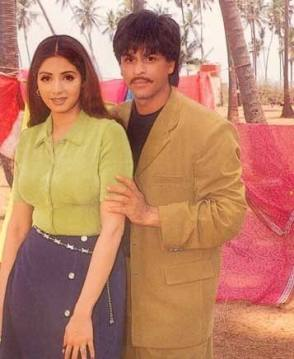 Sridevi and SRK - Behind the Scenes photos