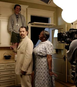Filming The Ladykillers (2004) - Behind the Scenes photos