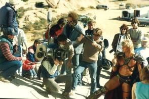 Filming Masters of the Universe (1987) - Behind the Scenes photos