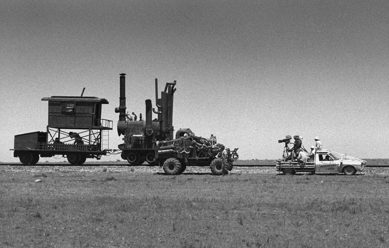Old School Tracking Vehicle Behind the Scenes