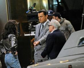 Marty, Leo, and Cristin – The Wolf of Wall Street - Behind the Scenes photos