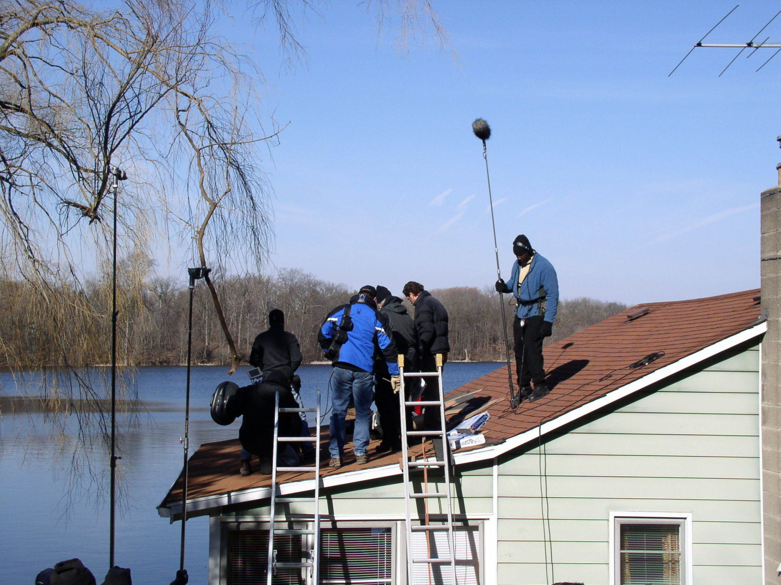 2009 Conviction, Camera Crew on Rooftop Behind the Scenes