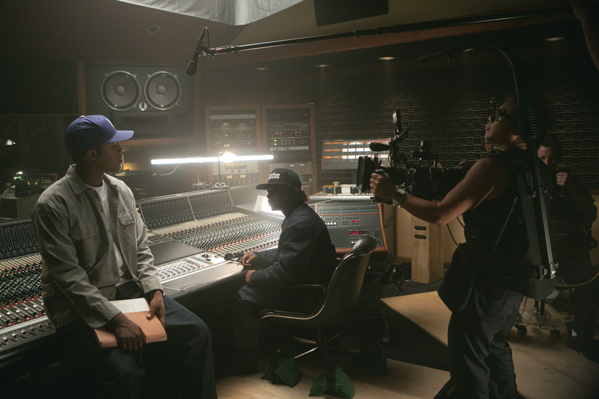 Straight Outta Compton Behind the Scenes Photos & Tech Specs