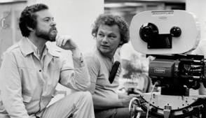 Cinematographer Gordon Willis on the set of All The President's Men