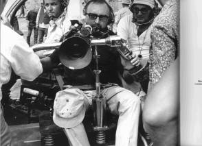 Sergio Leone prepares to shoot - Behind the Scenes photos