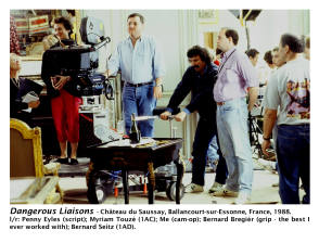 Dangerous Liaisons, May to August, 1988 - Behind the Scenes photos