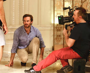 Armie hammer and cinematographer Nick Remy Matthews ACS - Behind the Scenes photos