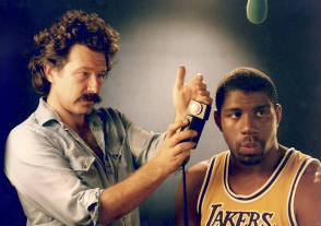 Magic Johnson PSA, 1985 - Behind the Scenes photos
