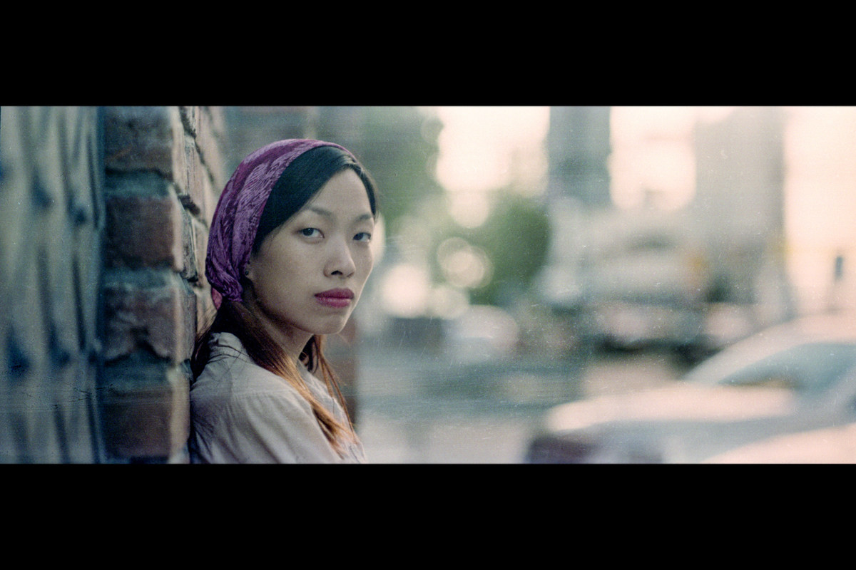 Vietnamese Girl Behind the Scenes